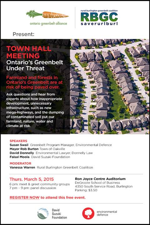 Halton Greenbelt Town Hall Invite